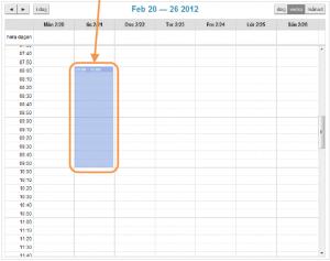 Lägg till lediga tider i kalendern