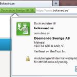 Sidan är krypterad - Firefox
