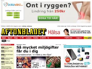 2014-03-04 Aftonbladet Hälsa - Topp banner