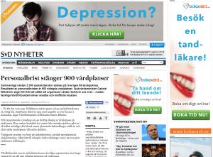 2015-02-02 Svd - Personalbrist stänger 900 vårdplatser - trippel