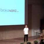Amir presenterar Bokavård.se på Park Annual